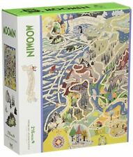 216 piece jigsaw puzzle map Map of Moomin Valley (25 x 36 cm)