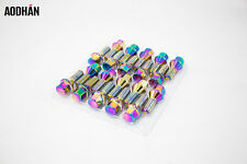 20Pc 12X1.5 Aodhan Lb55 Lug Bolts Neo Chrome / Fit Bmw E36 E46 E90 E92 F80 M3
