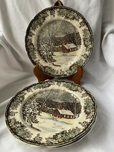 Johnson Brothers Friendly Village The School House collectable Plates Set Of 3