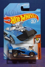 2018 Hot Wheels DODGE CHARGER DAYTONA in BLUE, HW Muscle Mania 5/10 US Long Card