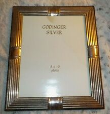 "Godinger silver photo frame, 8"" x 10"", regular clear glass, easel back"