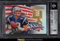 2002 Topps Chrome Super Bowl Goalposts Refractor Tom Brady PATCH #SBG1 BGS 9 MT