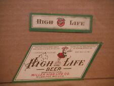 Miller High Life Irtp Dncmt4% 12 Oz. Beer Label-Miller Brg.,Milwaukee,Wis 287-31