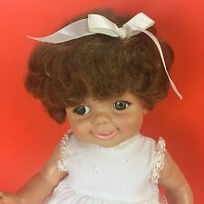 """Baby Giggles Doll Vintage 1968 Ideal 16"""" Flirty Eyes w/ Bow GIGGLE WORKS"""