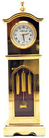 Miniature Table Clock, Full Brass Novelty - Vintage Classic Mini Tower Design