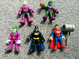 Imaginext Playskool DC Super Hero Toy Figures Batman Spiderman Joker Green Gobli