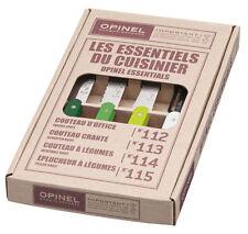 Opinel Kitchen 4 Small Set Les Essentials Paring Knives Primavera 1709 NEW
