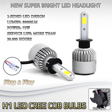 2x Bulbs H1 LED Cree Cob 72W White 6500K Headlights High Beam BMW X5 E70 07-13