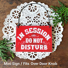 DecoWords IN SESSION Do Not Disturb Red Room Sign Fits over DoorKnob Therapy USA