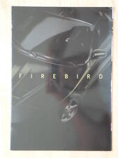Pontiac firebird 1998 français marketing brillant sales brochure-trans am