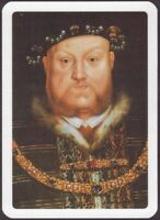 Playing Cards Single Card Old Vintage Wide KING HENRY VIII Royal Art Portrait B