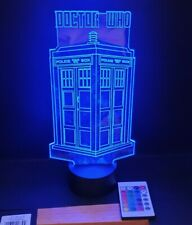 Doctor Who tardis  multi coloured led  light with remote control