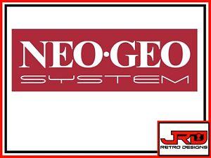 NEO-GEO System Sticker in Red