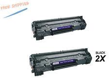 2PK Black CE285A Toner Cartridge For HP 85A LaserJet P1102 P1102W M1212NF MFP