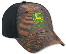 NEW John Deere Black Field of Tracks Simulation Cap LP52409