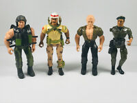 Vintage 1985 1986 Coleco Rambo Action Figure Lot (x4) See pics