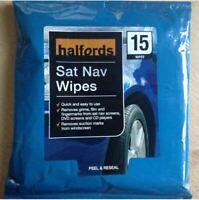 Halfords Sat Nav Wipes pk15