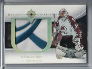 2005-06 Ultimate Collection Premium Patches #PPPR Patrick Roy PATCH /35