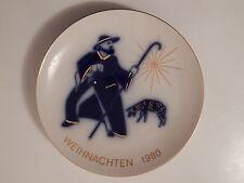 DEKORATIVER  KPM BERLIN  WEIHNACHTSTELLER  1980  JAHRESTELLER  KPM  BERLIN !!!