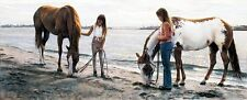 "Steve Hanks, ""Connections"", limited edition print, Girls with horses"