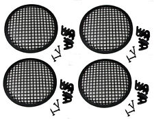 """4 Pack Penn Elcom G08 Speaker Grill With Mounting Hardware for 8"""" Sub Woofers"""