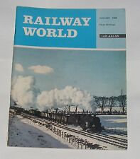 RAILWAY WORLD JANUARY 1968 - LNW LOCOMOTIVES IN AMERICA/DINNER IS SERVED