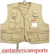 Eagle Claw Fly Fishing Vest Stream Fish Tackle Jacket 16 Pockets FVA-L Large L