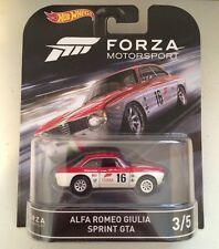 2016 Hot Wheels Alfa Romeo Giulia Sprint GTA Forza Motorsport #3/5 Retro D Case