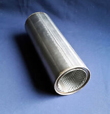 """76mm bore (3"""") 4"""" Round x 12"""" Long Universal Stainless steel exhaust silencer"""