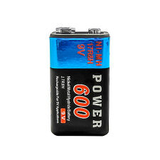 1 pc 9V 9.0 V Volt 600mAh Ni-MH 6F22 PP3 17R8H Rechargeable Battery Power