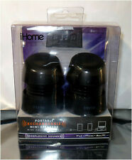 NIB IHome IHM79 Black iPOD iPhone Android PC Portable Rechargeable Mini Speakers