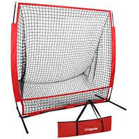 Heavy Duty 5 x 5' Baseball Softball Net Ez Setup W/ Carry Bag Yard Playground