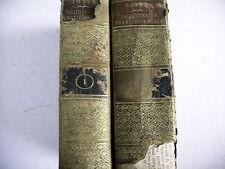 DICTIONNAIRE FRANCOIS ANGLOIS 2 volumes 1817 reliure cuir