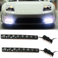 8 LED Daytime Running Fog Lights DRL For Vauxhall Opel Corsa Astra Vectra Zafira
