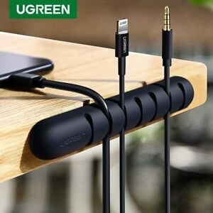 UGREEN Cable Management Clips Holder Desktop Wire Cable Winder Cord Organizer