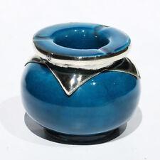 Marokkanische orientalische Keramik GROß Handarbeit Aschenbecher Blau D12,50cm