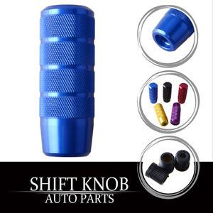 Aluminum Blue Racing Car Gear Shift Knob Shifter Lever Head Universal AM
