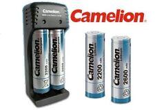 Accu batterie rechargeable ICR 18650 Lithium-ion 2200 2600mAh Chargeur Camelion