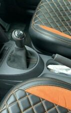 vw volkswagen caddy 2k touran alcantara gear gaitor gaiter with colour stitching