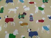 Prestigious Textiles Mans Best Friend Dog 100% Cotton Curtain Fabric - Jewel