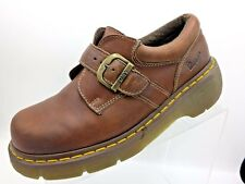 Dr Martens Monk Strap Slip On Buckle Brown Leather Womens Size 8M US 39 EU