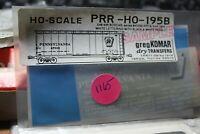 Komar Dry Transfers  decals HO PRR-HO-195B  Pennsylvania X48 40'  box   1165