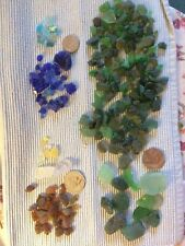 Various size sea-glass collection ca 240 gr