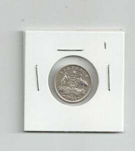 1961 Australia QE11 Sixpence 50% silver Extremely fine condition