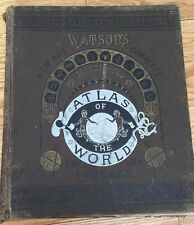 1886  WATSON'S ILLUSTRATED ATLAS OF THE WORLD Maps INDEXED ORIGINAL