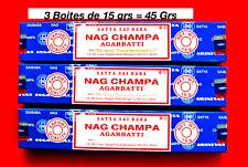 3 boites d'encens nag champa sayta de 15 grs ( promo de juillet )