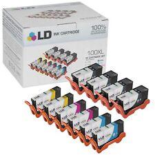 LD 10 Pack 14N1068 100XL 100 Black Color Ink Cartridge Set for Lexmark Printer