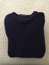 GUCCI Women's Blue 100% Wool Sweater Pullover Size M