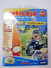 VTECH WHIZ KID Learning System BOB the BuildeR SCRAMBLERS BIG DAY PRE-K New