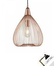 Lampe Suspension Luminaire Lampe Écran de fil Métal KupferLED Compatible